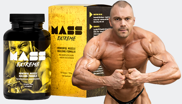 Mass Extreme: ainoa tällainen ravintolisä, jota tarvitset lihasten kasvattamiseen