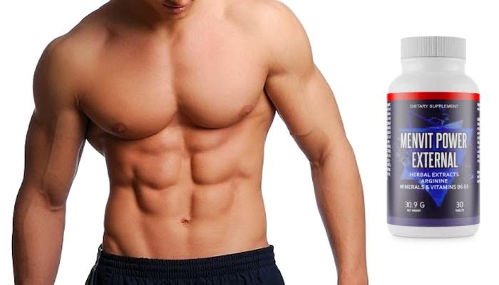 Menvit Power External lihasten kasvua varten: lisaat lihasmassaa 80%